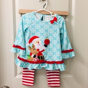 Other - Santa and Rudolph Long Sleeved Shirt and Pants